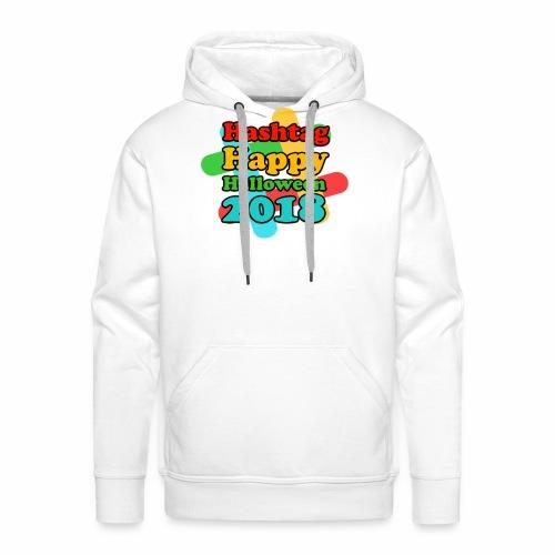 hashtag happy halloween 2018 - Sweat-shirt à capuche Premium pour hommes