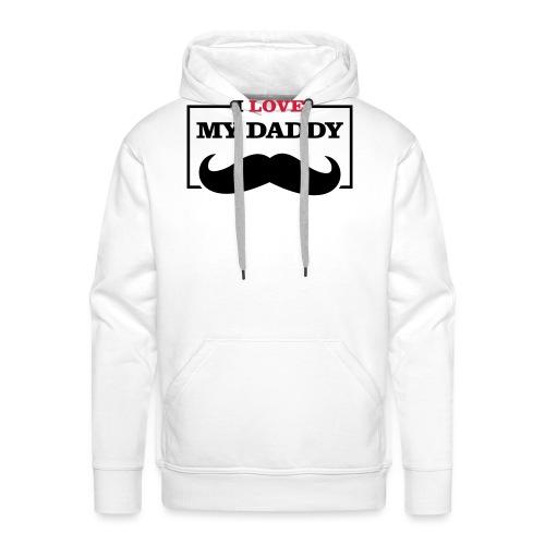LOVE DADDY - Felpa con cappuccio premium da uomo
