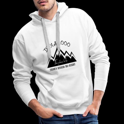 logo isola 3 - Sweat-shirt à capuche Premium pour hommes