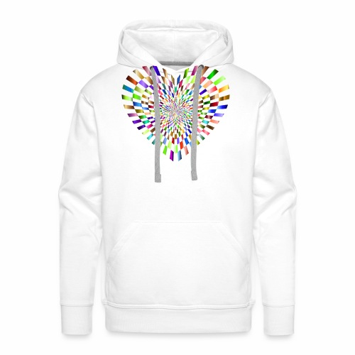 illusion heart colour - Men's Premium Hoodie