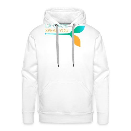 LOGO SPEAK YOU 2 - Sweat-shirt à capuche Premium pour hommes
