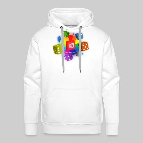 Lancé de dés au casino - Sweat-shirt à capuche Premium pour hommes