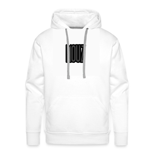 Mouz Black and Grey Design - Men's Premium Hoodie