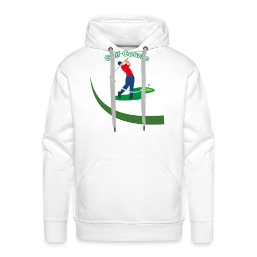 Golf Course - Sweat-shirt à capuche Premium pour hommes