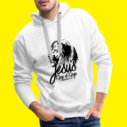 JESUS - KING OF KINGS - Revelations 19:16 - LION - Men's Premium Hoodie