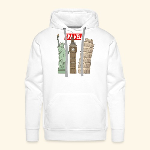 Travel New York, London, Pisa - Männer Premium Hoodie