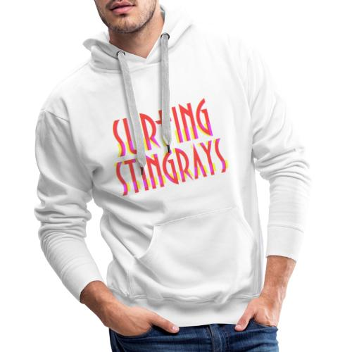 Surfing stingrays rooie letters logo - Mannen Premium hoodie