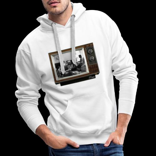 TV @ the TV - Sweat-shirt à capuche Premium pour hommes