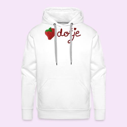 Baby aardbei Dotje - cute - Mannen Premium hoodie