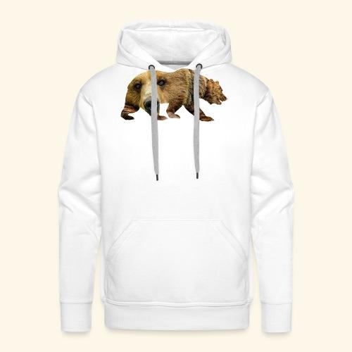 Ours Brun - Sweat-shirt à capuche Premium pour hommes