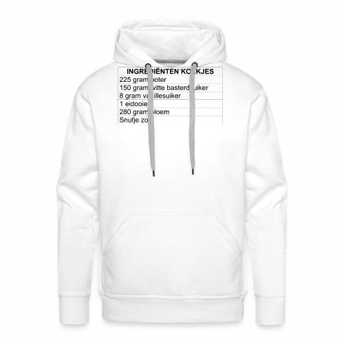 INGREDIËNTEN KOEKJES (limited edition) - Mannen Premium hoodie