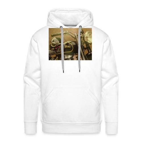 Vintage velocette - Sweat-shirt à capuche Premium pour hommes