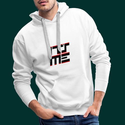 Logo It sME quadrato - Felpa con cappuccio premium da uomo