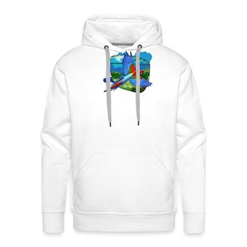 Perroquet jungle - Sweat-shirt à capuche Premium pour hommes