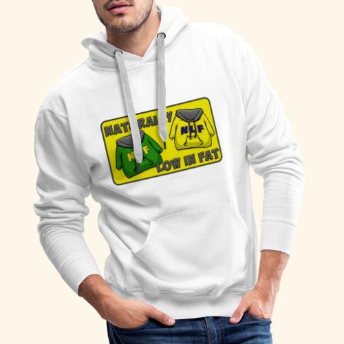 drapeau naturallylowinfat - Sweat-shirt à capuche Premium pour hommes