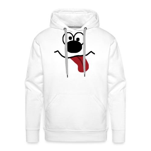 Funny Cartoon Face drunk tongue sticking out - Premium hettegenser for menn