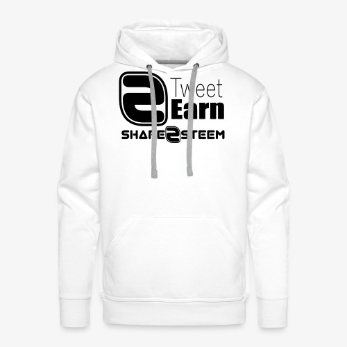 Share2Steem - Sweat-shirt à capuche Premium pour hommes