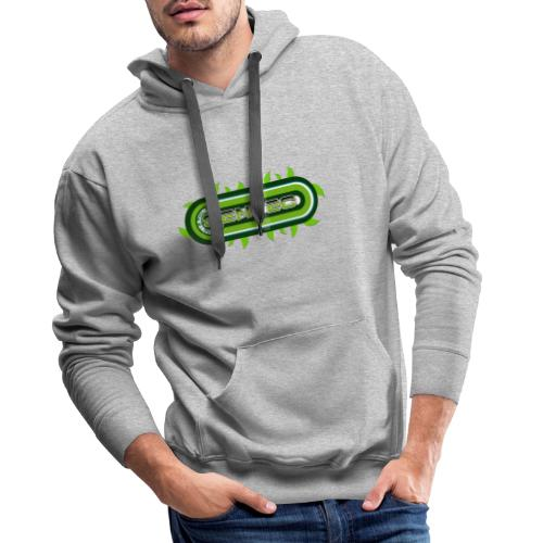 GREEN LOGO - Sudadera con capucha premium para hombre
