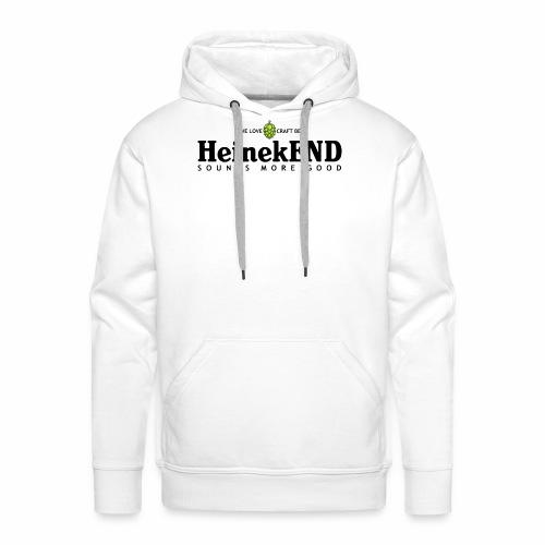 HeinekEND scritta nera - Felpa con cappuccio premium da uomo