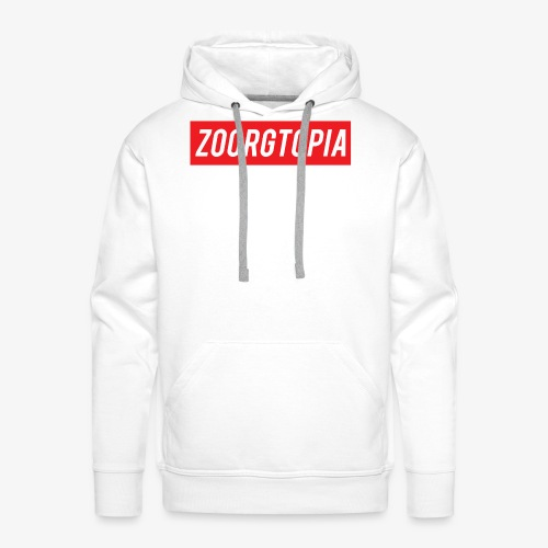 Zoorg Red Background - Men's Premium Hoodie