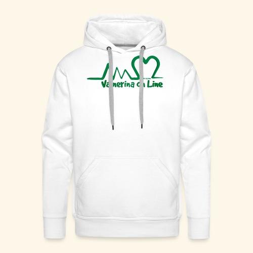 logo verde Associazione Valnerina On line - Felpa con cappuccio premium da uomo