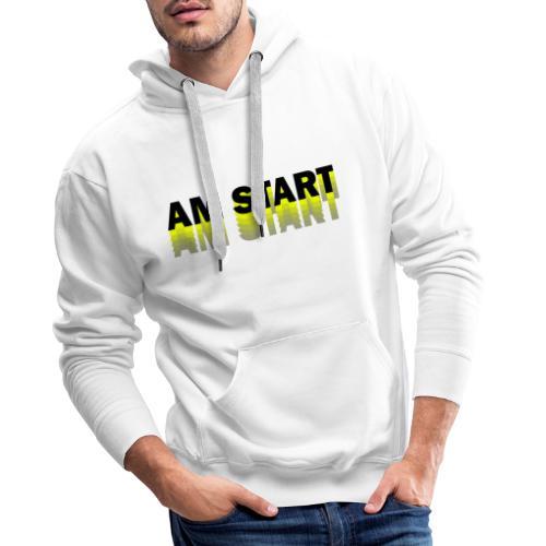 am Start - gelb schwarz faded - Männer Premium Hoodie