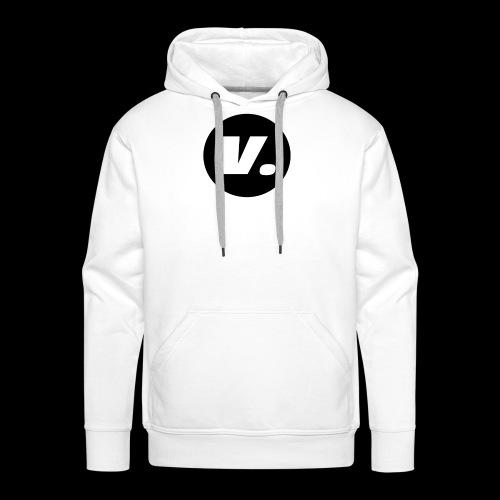 Ventura White V Logo - Mannen Premium hoodie