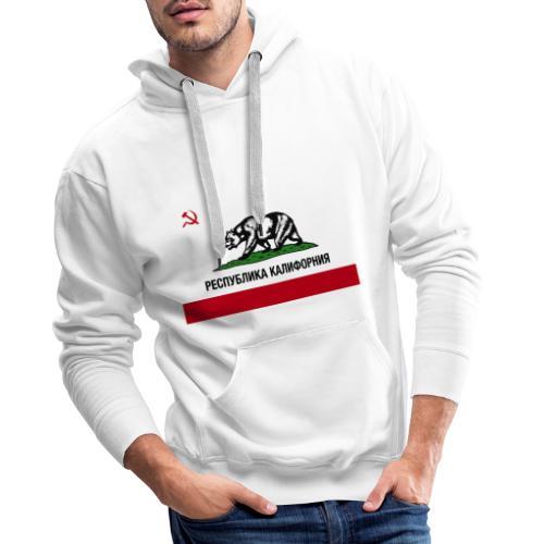 CALIFORNIA REPUBLIC | RUSSIAN CYRILLIC - Felpa con cappuccio premium da uomo