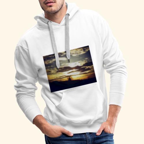 Natura - Bluza męska Premium z kapturem