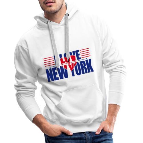 love new york - Sweat-shirt à capuche Premium pour hommes