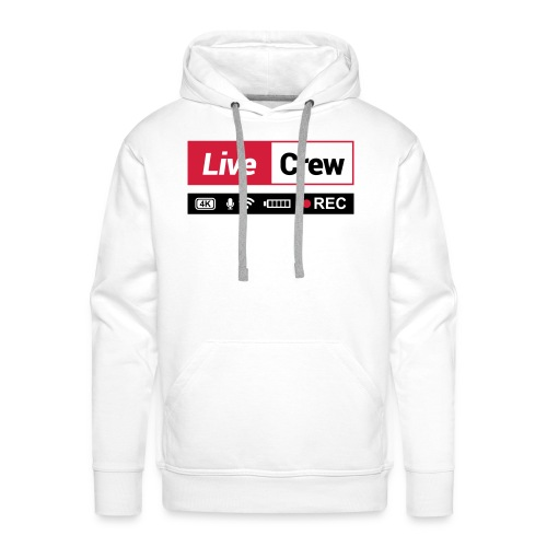 Live crew - Felpa con cappuccio premium da uomo