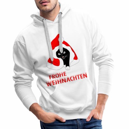 Frohe Weihnachten - Schwarze Katze - Sweat-shirt à capuche Premium pour hommes