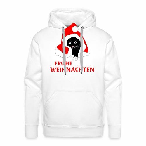 Frohe Weihnachten - Schwarze Katze - Men's Premium Hoodie