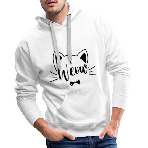 meow - Sudadera con capucha premium para hombre