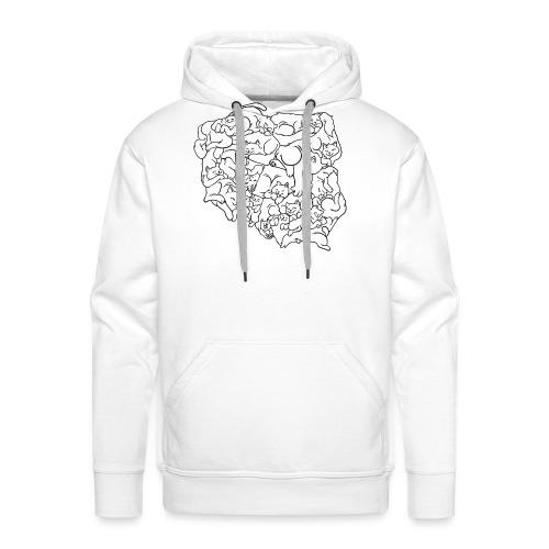 Kotowództwa - Bluza męska Premium z kapturem
