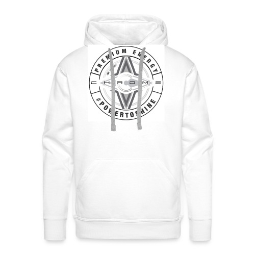 Chrome Energy Drink Icon - Men's Premium Hoodie
