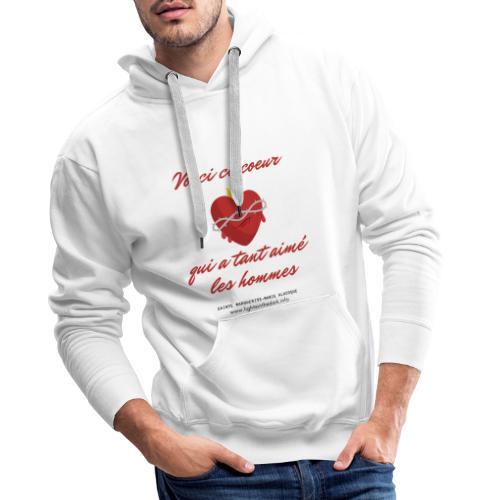 Voici ce coeur - Sweat-shirt à capuche Premium pour hommes