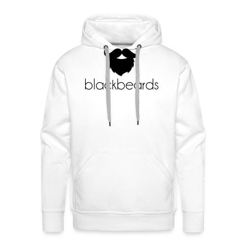 blackbeards logo_schwarz - Männer Premium Hoodie