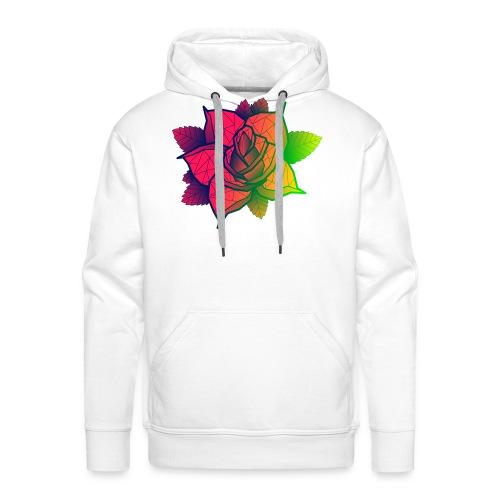 rose tricolore - Sweat-shirt à capuche Premium pour hommes