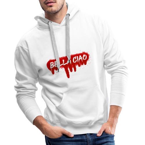 00288 Bella ciao rojo - Sudadera con capucha premium para hombre