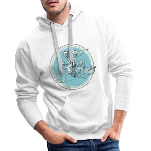 To the Beach - Backround - Männer Premium Hoodie