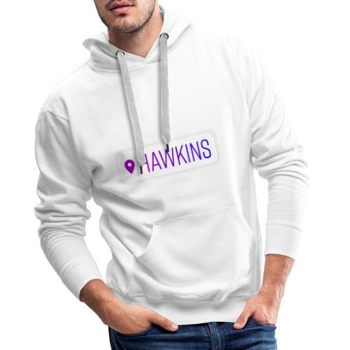 00208 Location Hawkins - Sudadera con capucha premium para hombre