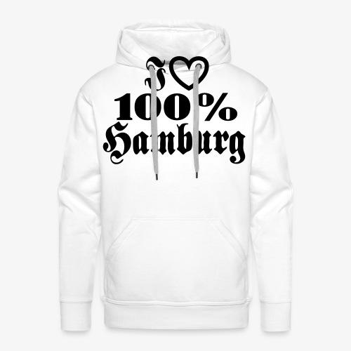 I love 100% Hamburg 1c / Herz - Männer Premium Hoodie