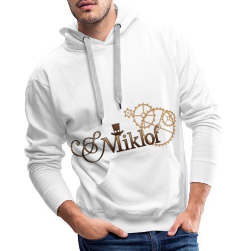 miklof logo gold wood gradient 3000px - Men's Premium Hoodie