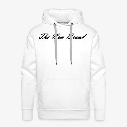 The New Brand logo black on white - Mannen Premium hoodie