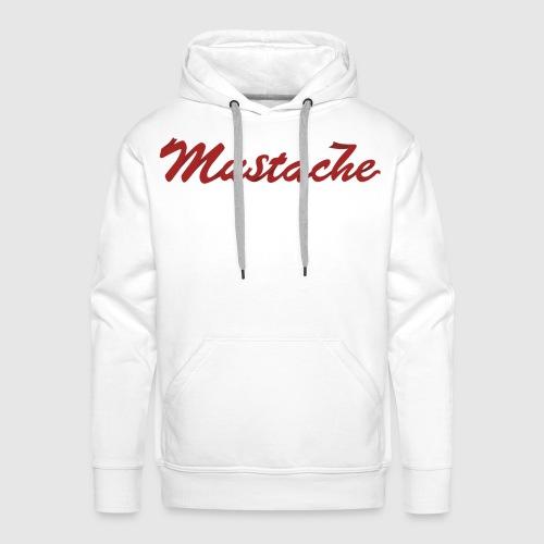 Red Mustache Lettering - Men's Premium Hoodie
