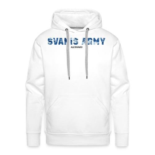 SVANIS ARMY (ALEXSVANIS SVART TEXT) - Premiumluvtröja herr