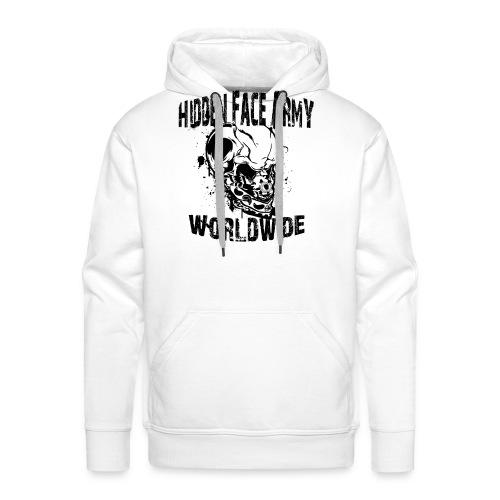 Hidden Face Army Worldwide TMR Grafix SCHWARZZZZ - Männer Premium Hoodie