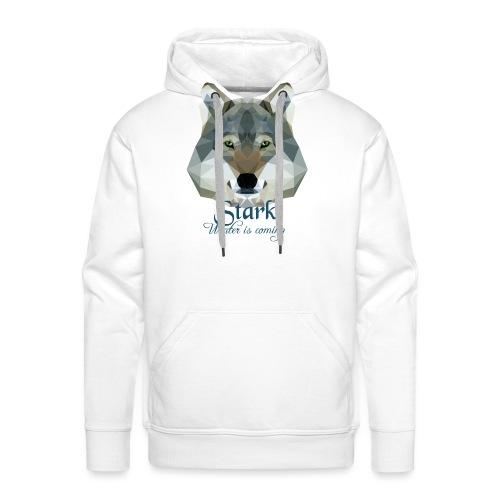 Stark wolf - Felpa con cappuccio premium da uomo