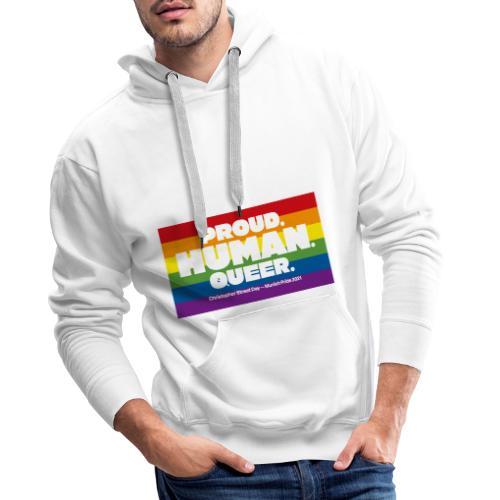 MOTTO CSD München 2021 - Regenbogen - Männer Premium Hoodie
